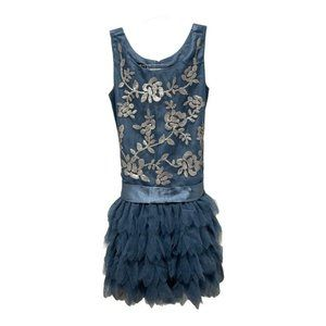 Biscotti Girls Pale Blue Sequin Tulle Dress 7